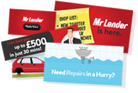 Mr Lender - Payday Loan Promotional Materials