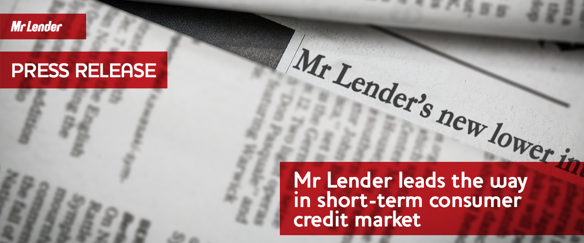 Mr Lender leads the way in short-term consumer credit market