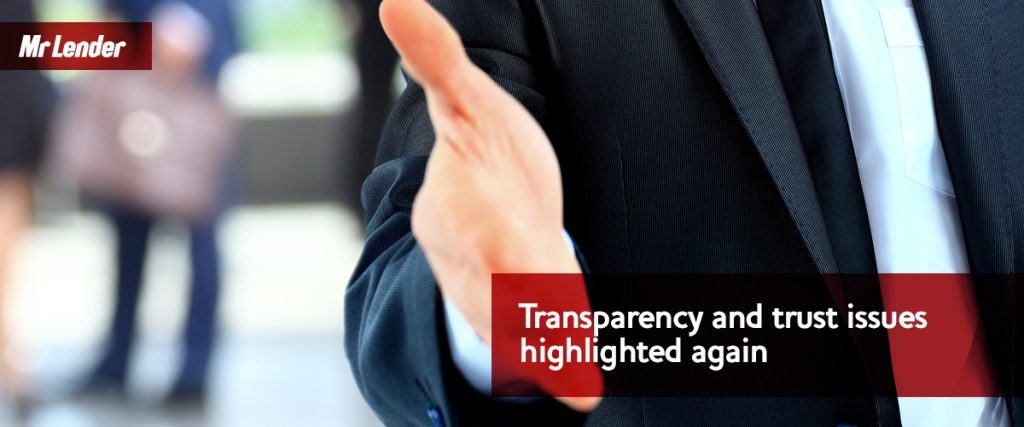 Transparency and trust issues highlighted again