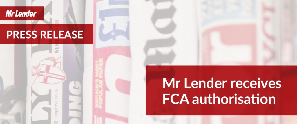 Mr Lender receives FCA authorisation