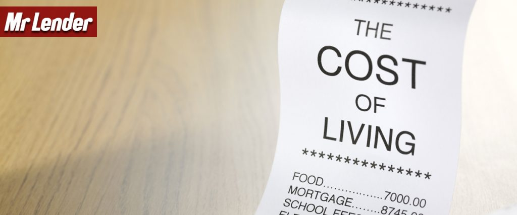 Mr Lender looks into the cost of living in 2016