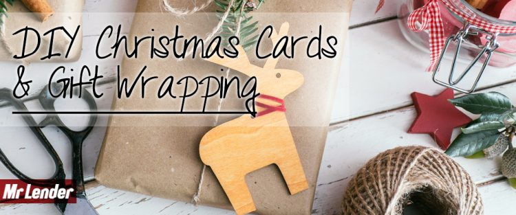 DIY Christmas cards and gift wrapping with Mr Lender