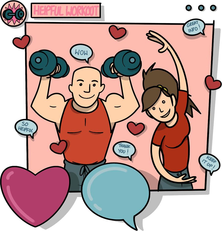Social media workout