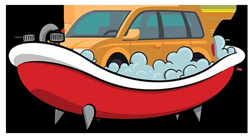 Car wash and having a bath