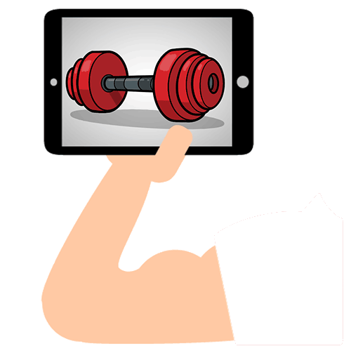 iPad weight training