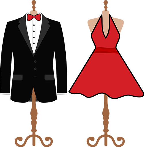 Black tie outfits