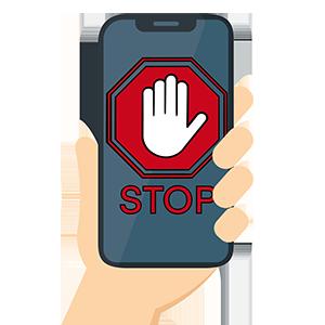 stop warning smartphone