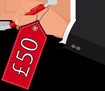 £50 price tag