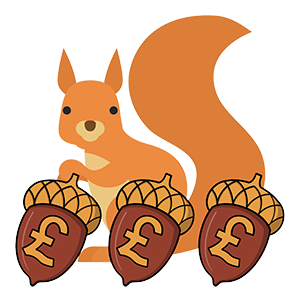 squirrel with money