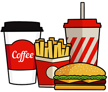 Coffee and fast food
