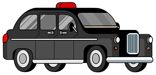 Black cab taxi